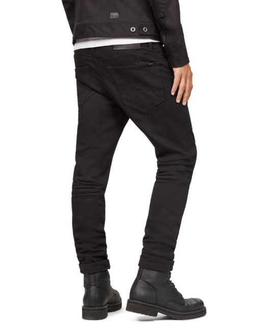 2c65a01fb154 ... G-Star RAW - Black 3301 Slim Fit Jeans In Rinsed for Men - Lyst ...