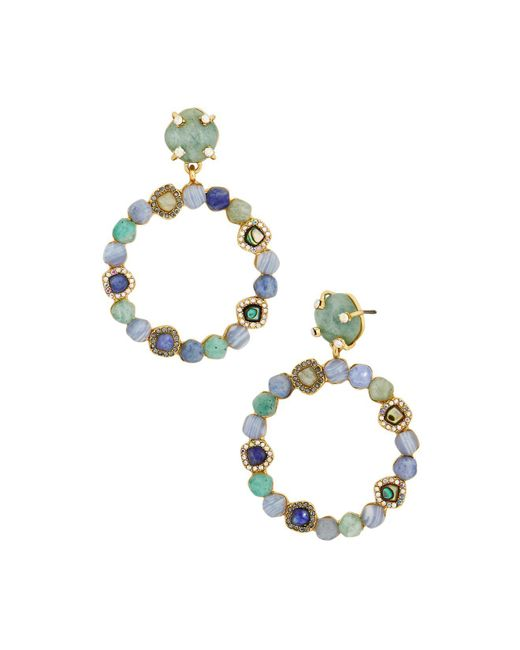 BaubleBar | Green Lavinia Hoop Earrings | Lyst