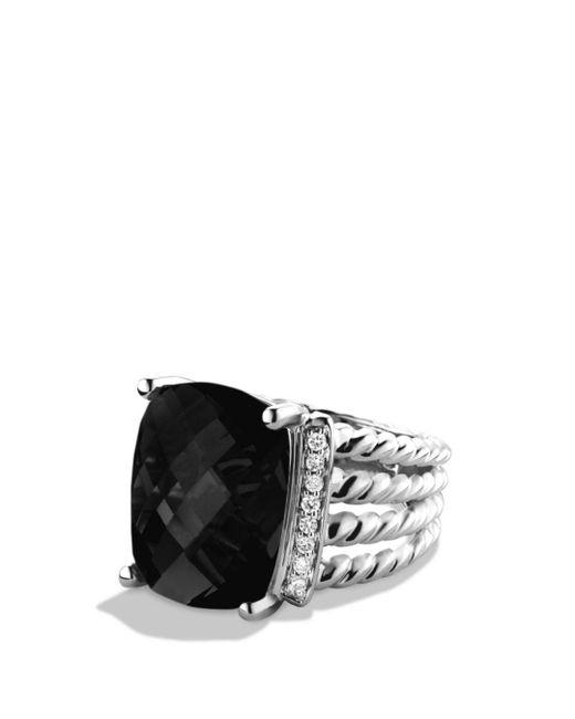 David Yurman - Metallic Wheaton Ring With Black Onyx And Diamonds - Lyst