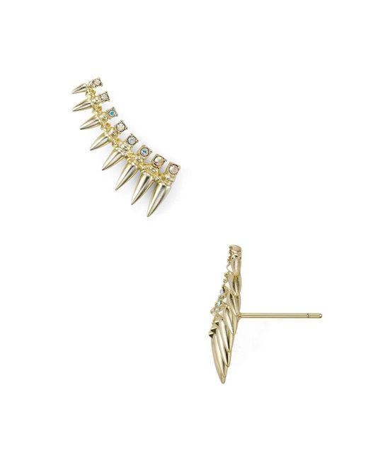 Kendra Scott - Metallic Loulou Swarovski Crystal Earrings - Lyst