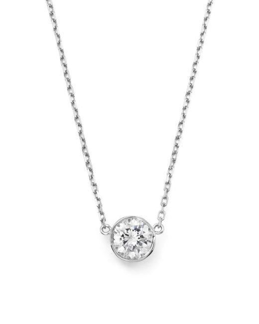 Bloomingdale's - Diamond Bezel Set Pendant Necklace In 14k White Gold, .50 Ct. T.w. - Lyst