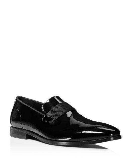 BOSS - Black Men's Highline Patent Leather Loafers for Men - Lyst