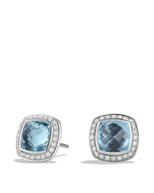 David Yurman - Albion Earrings With Blue Topaz And Diamonds - Lyst