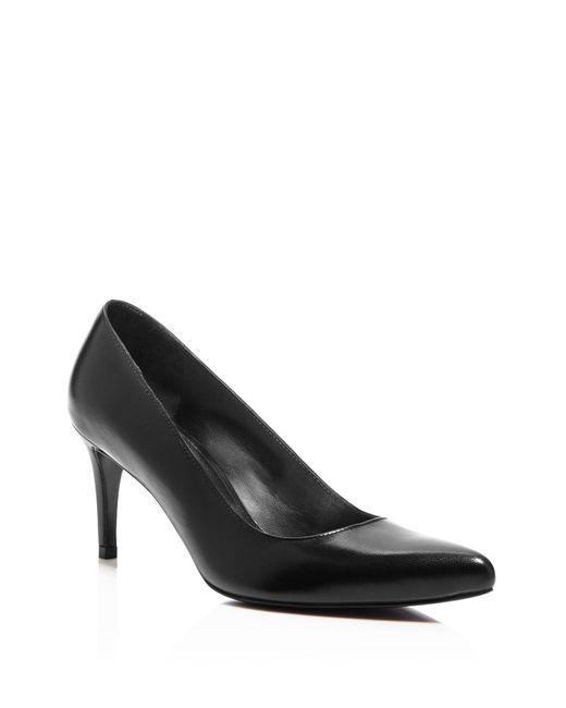 Stuart Weitzman | Black Tessa Pointed Toe High Heel Pumps | Lyst