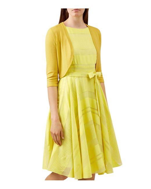 Hobbs   Yellow Carrie Bolero   Lyst
