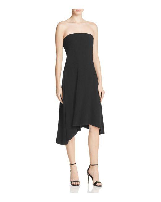 Theory | Black Trelle Strapless Dress | Lyst