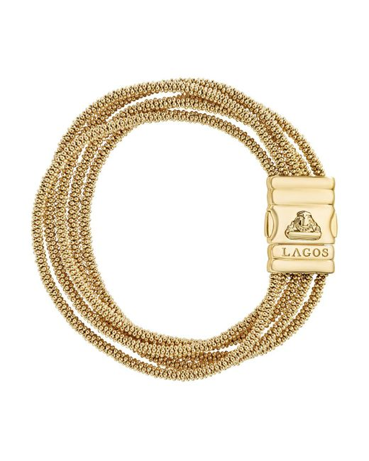 Lagos - Metallic Caviar Gold Collection 18k Gold Five Strand Bracelet - Lyst