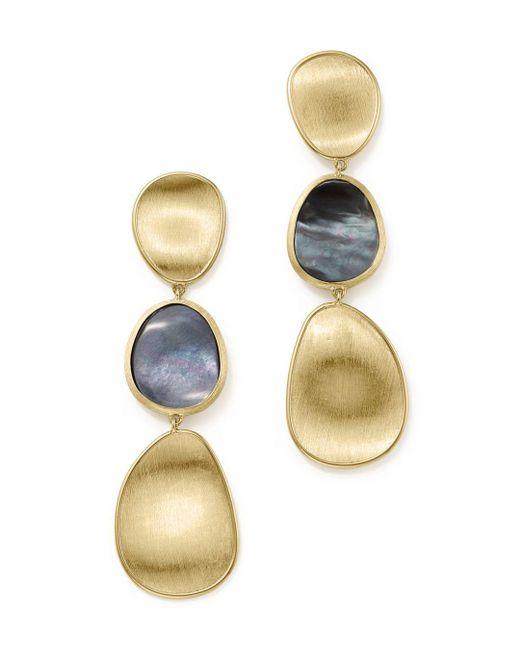 Marco Bicego - Metallic 18k Yellow Gold Lunaria Black Mother-of-pearl Triple Drop Earrings - Lyst