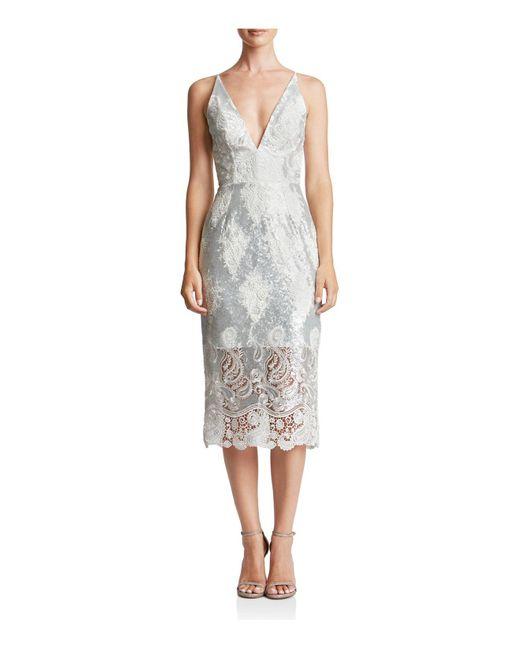 Dress the Population | Metallic Angela Sequin & Lace Dress | Lyst