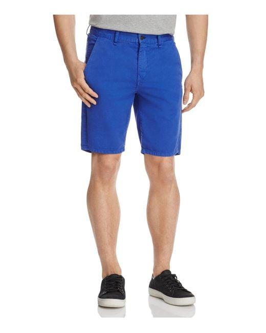 Rag & Bone | Blue Twill Regular Fit Shorts for Men | Lyst