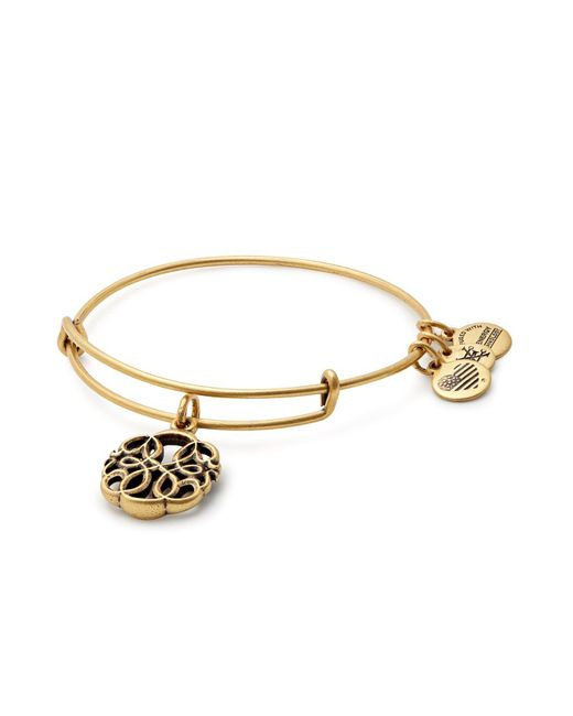 ALEX AND ANI | Metallic Path Of Life Expandable Wire Bangle | Lyst