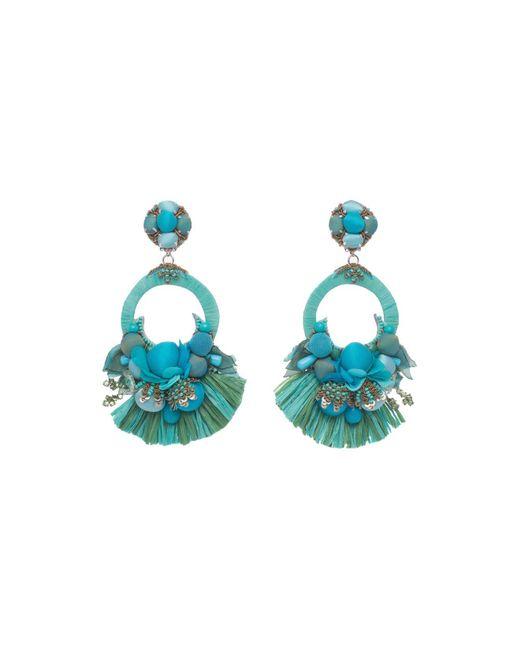 Ranjana Khan   Blue Petal Clip-on Drop Earrings   Lyst