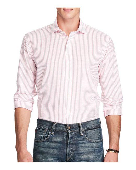 Polo Ralph Lauren | Pink Stripe Classic Fit Button-down Shirt for Men | Lyst