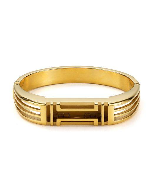 Tory Burch | Metallic Fitbit Metal Hinged Bracelet | Lyst