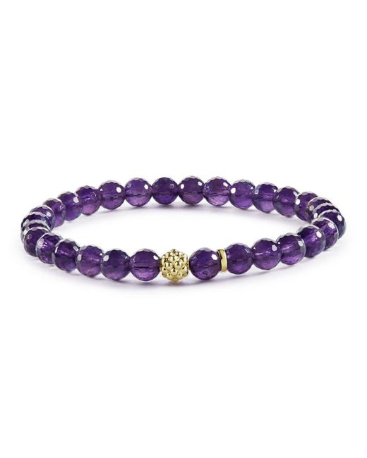Lagos - Purple Caviar Icon Amethyst Bracelet With 18k Gold Caviar Station - Lyst
