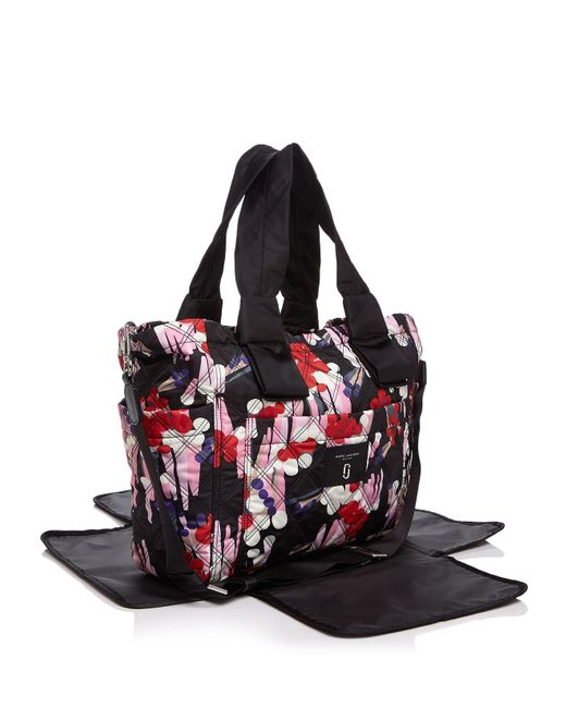 marc jacobs geo spot printed knot diaper bag in black lyst. Black Bedroom Furniture Sets. Home Design Ideas