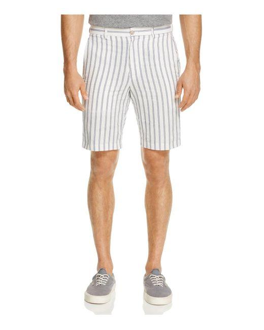 Haspel   White Bienville Stripe Shorts for Men   Lyst