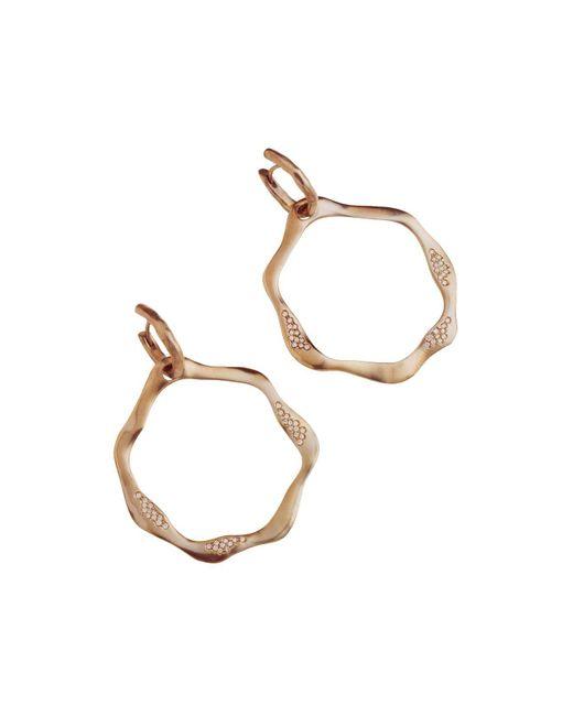 Antonini | Metallic 18k Rose Gold Anniversary Open Drop Champagne Diamond Earrings | Lyst