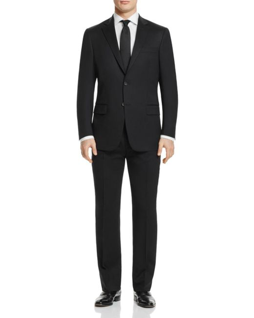 Hart Schaffner Marx - Black Solid Basic New York Classic Fit Suit for Men - Lyst