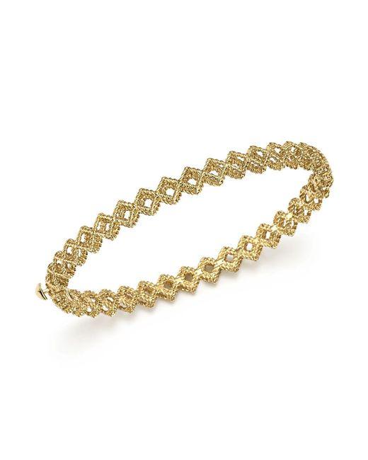 Roberto Coin | Metallic 18k Yellow Gold New Barocco Crisscross Bangle | Lyst