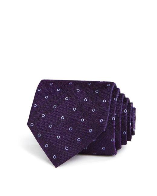 John Varvatos | Purple Outline Dot Classic Tie for Men | Lyst