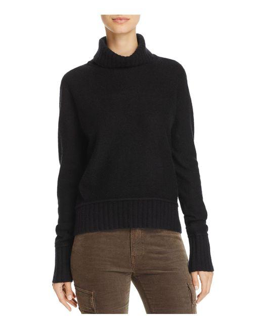 Vince | Black Turtleneck Cashmere Sweater | Lyst