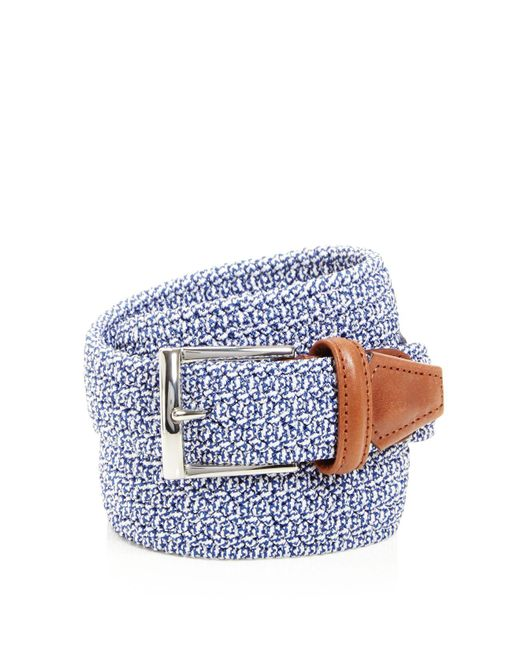 Andersons - Blue Stretch Woven Belt - Lyst