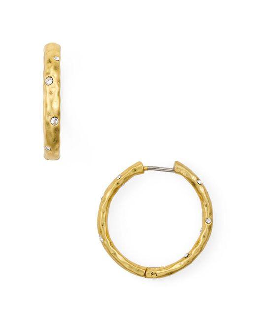 Kate Spade - Metallic Huggie Hoop Earrings - Lyst