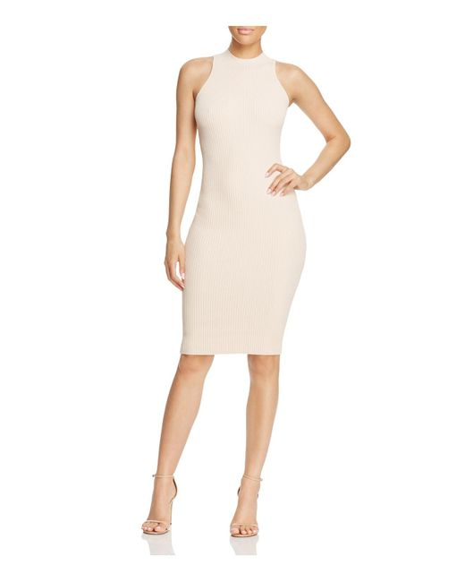 Olivaceous | Natural Knit Bodycon Dress | Lyst