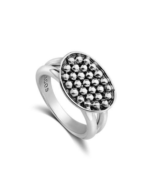 Lagos - Metallic Signature Caviar Horizontal Ellipse Ring - Lyst