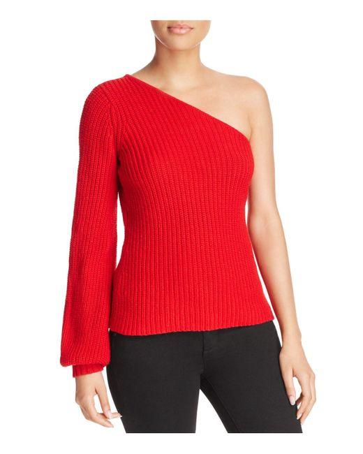 Aqua | Red One-shoulder Sweater | Lyst