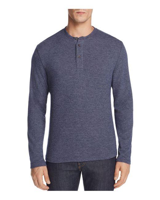 SURFSIDESUPPLY | Blue Long Sleeve Henley Tee for Men | Lyst