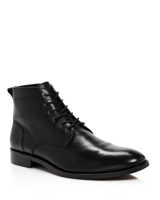 Bloomingdale's - Black Men's Leather Boots for Men - Lyst