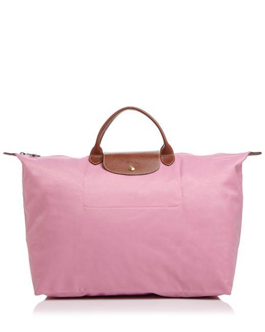 Longchamp - Blue Le Pliage Nylon Travel Bag - Lyst