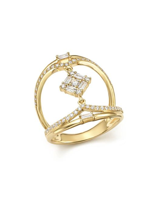 KC Designs - Metallic 14k Yellow Gold Mosaic Diamond Statement Ring - Lyst