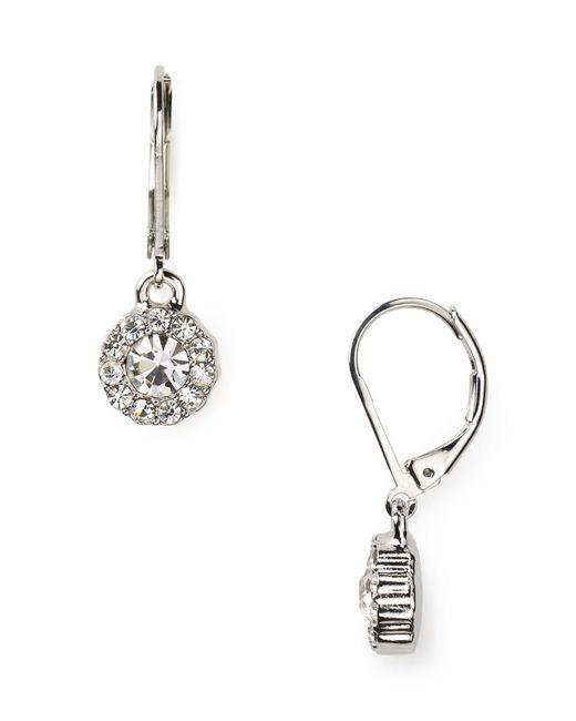 Ralph Lauren | Metallic Lauren Social Manor Small Round Pavé Drop Earrings | Lyst