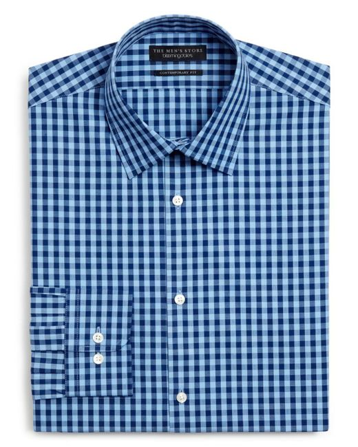 Bloomingdale's - Blue Gingham Dress Shirt - Slim Fit for Men - Lyst