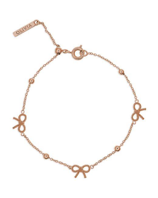 Olivia Burton | Metallic Vintage Bow And Ball Bracelet | Lyst