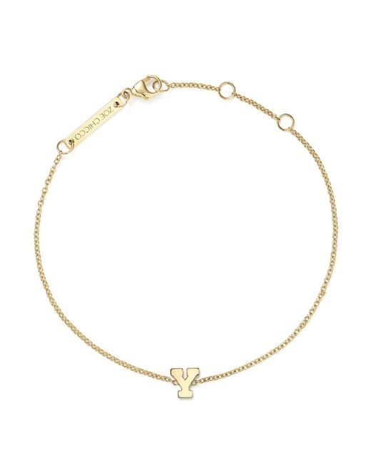 Zoe Chicco | Multicolor 14k Yellow Gold Initial Bracelet | Lyst
