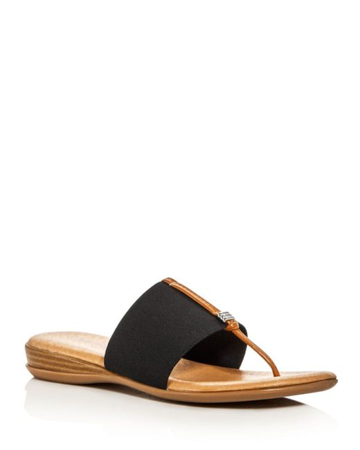 8f1b569a95e9 Andre Assous - Black Nice Thong Sandals - Lyst ...