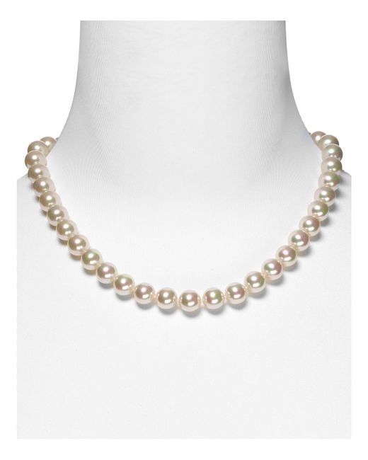 Majorica | White 10mm Simulated Pearl Necklace 18"