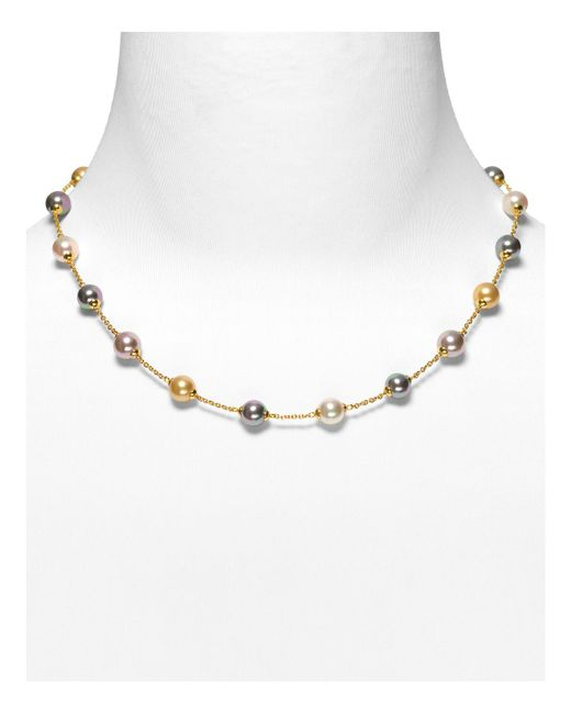 "Majorica | Multicolor Illusion Simulated Pearl Necklace, 17"" | Lyst"