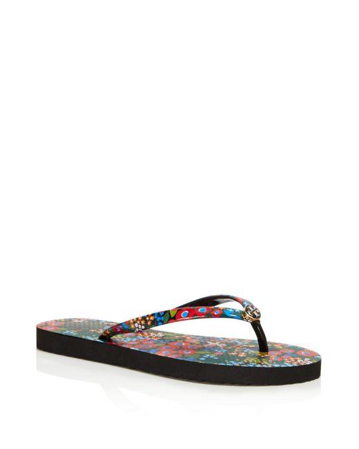 Tory Burch   Multicolor Printed Thin Flip-flops   Lyst