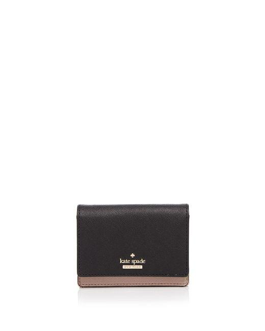 Kate Spade | Black Cameron Street Beca Color Block Saffiano Leather Wallet | Lyst