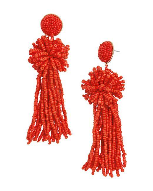 BaubleBar - Red Rishita Tassel Drop Earrings - Lyst