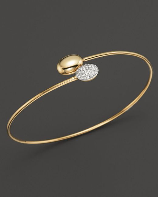 KC Designs - Metallic Diamond Double Oval Bracelet In 14k Yellow Gold - Lyst