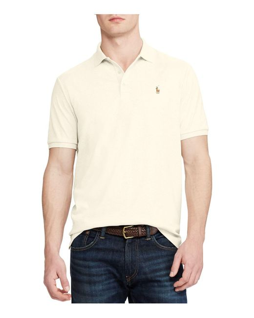 Polo Ralph Lauren | Natural Classic Fit Soft Touch Polo Shirt for Men | Lyst