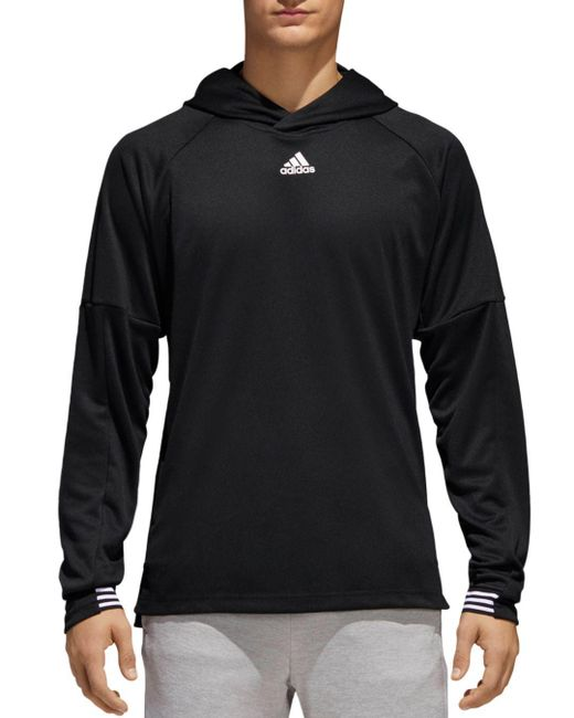 Adidas Originals - Black Ti Lite Hooded Pullover for Men - Lyst
