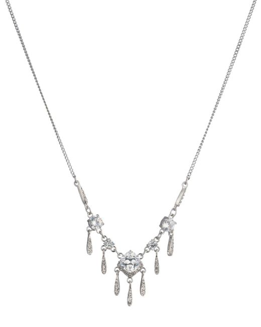 Carolee - Metallic Social Soiree Cz Small Frontal Necklace - Lyst