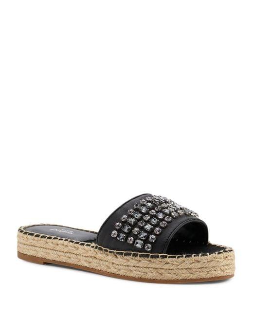 Botkier - Black Women's Julie Leather Espadrille Slide Sandals - Lyst